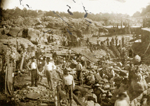 Mining Camp During California Gold Rush