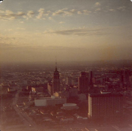San Antonio, Texas, from the Tower of the America's 1980.