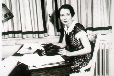 Margaret Mitchell With Typewriter