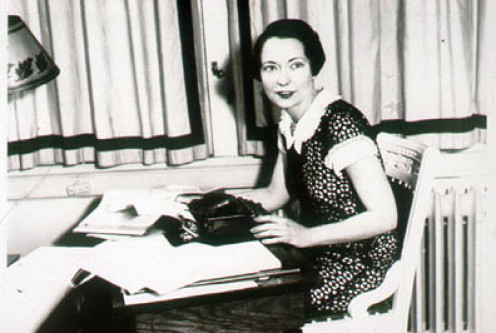 Margaret Mitchell With Typewriter