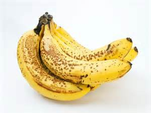 This is what you want your ripened bananas to look like before you start .