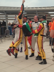 Teams celebrating their win at Dunlop 24Hour Race.