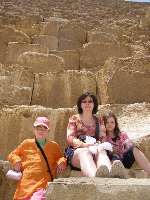 Sitting on the Great Pyramid