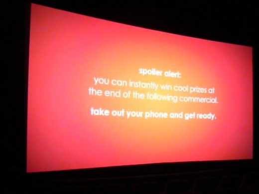 This is what I saw when I went into the theater. No I used my camera, not my phone