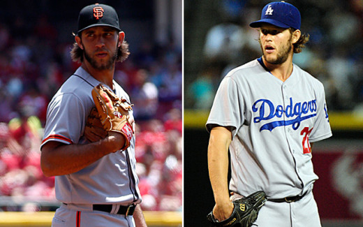 Left handed aces will decide the National League West division title.