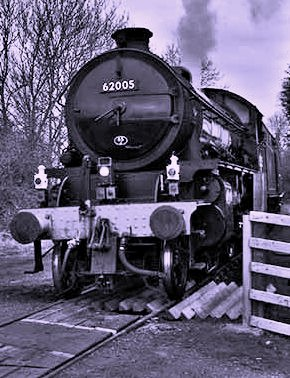 A H Peppercorn K1 2-6-0 62005, under NELPG ownership on Wensleydale Railway, March, 2015, on tour with express lamp code. This loco performs regularly on the West Highland line - see below, 'Scottish Steam', introduced on British Railways in late 40s
