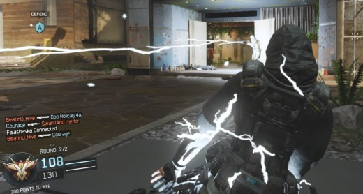 The electricity can spread to other players in the targets vicinity.