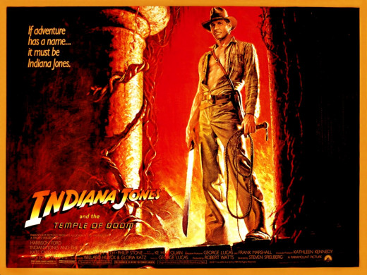 "Poster for ""Indiana Jones And The Temple Of Doom"""