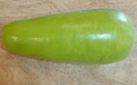 This Thai bottle gourd is a little smaller than the typical size you will see in a specialty grocery store.