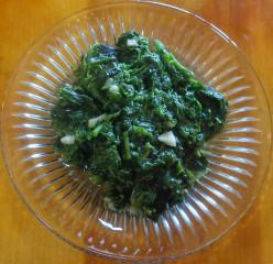 Cooking wild Amaranth greens