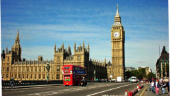 Famous landmark in London. The name actually applies to the Clock Tower's hour bell.