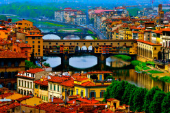 Capital of Italy's Tuscany region, it is the birthplace of the Renaissance. Iconic sites include the Florence Cathedral, with its terra-cotta-tiled dome. According to UNESCO, nearly a third of the world's art treasures reside here.