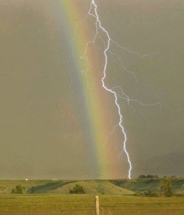 Lightning and a rainbow can exist in harmony. There is no need for conflict.