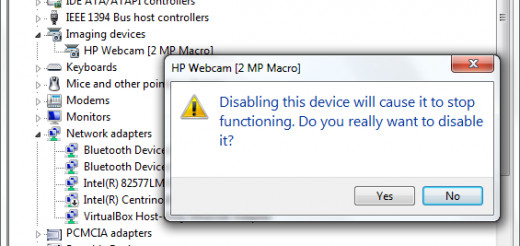 Disable the laptop webcam if you are not going to use
