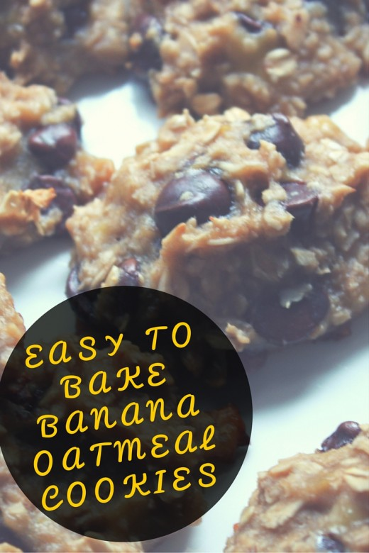 Easy to Bake Banana Oatmeal Cookies - only 5 ingredients!