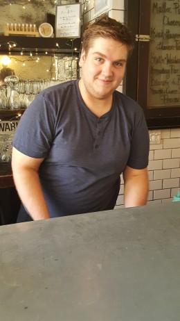 A wonderful waiter, Carmine