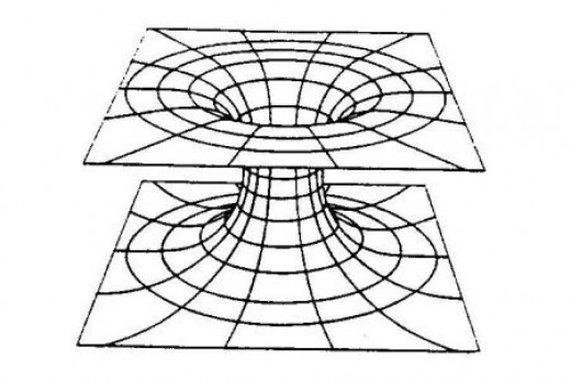 Einstein-Rosen Bridge.  It is a wormhole from one physical location to another, but if one end of the wormhole is moving it can also allow the traveller to traverse time.