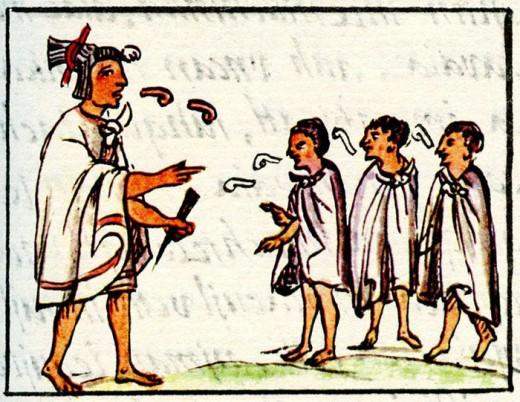 """An Aztec teacher or """"keeper of the gods""""."""
