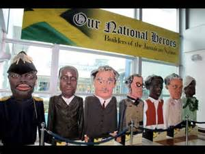 Large sculptures of Jamaica National Heroes greet you as you exit the Norman Manley International Airport