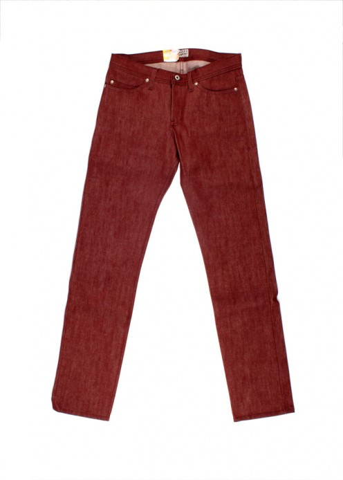 "Yes they actually use real pomegranate juice to dye these jeans. You're sure to stand out in these vibrant red beauties. And we have to say ""no they don't taste good at all"". We've tried. Now the Raspberry scratch and sniff, that's a different story!"
