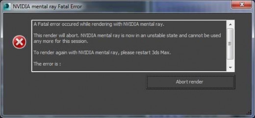 An example of when 3d max crashes on me.