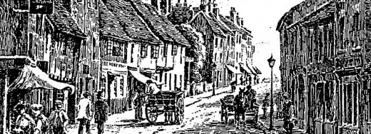 Etching of Gosford Street Coventry