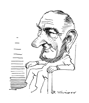 Lyndon Johnson by David Levine