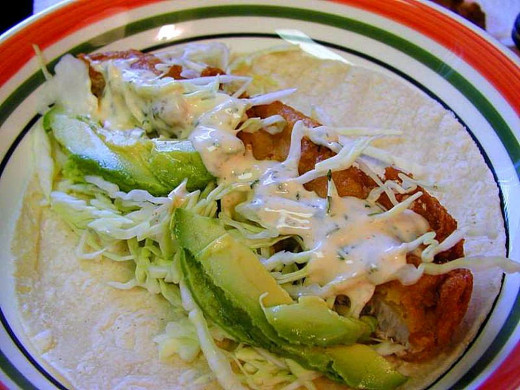 Delicious gourmet fish taccos