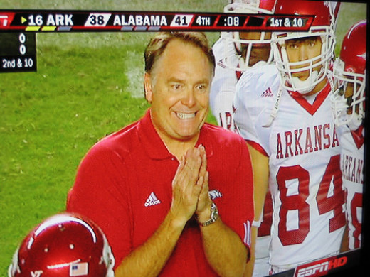Houston Nutt coached at Arkansas and then Ole Miss. Now? Who knows?
