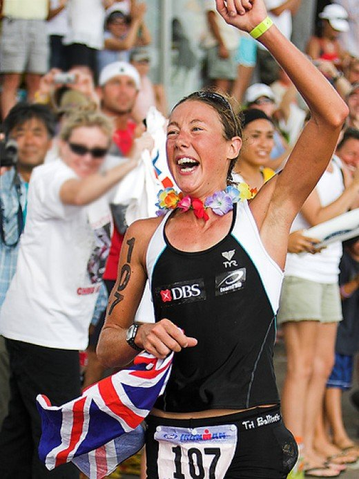 Chrissie Wellington.  Two time Kona winner!
