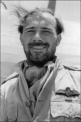 Group Captain Dudley Honor, flight commander in command .274 Squadron on Crete - his Hawker Hurricane fighters were pitched against Messerschmidt ME109 fighters