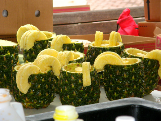 Pineapple makes great cups!