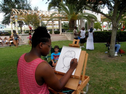Todd Reed, local caricature artist draws your portrait in 5 minutes or less!