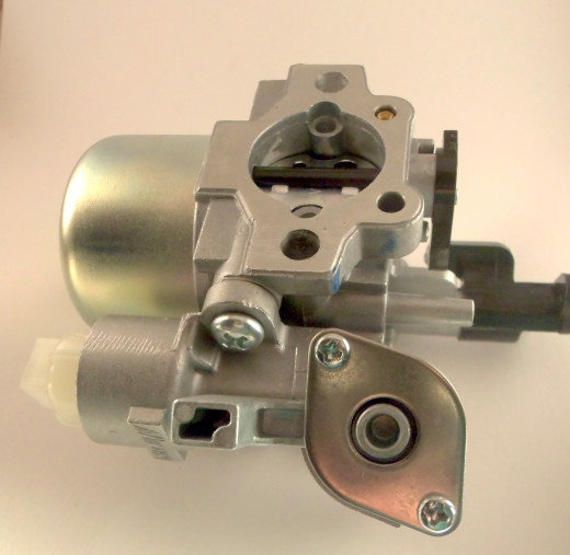 Small Engine Carburetor  The background is suppose to be white.