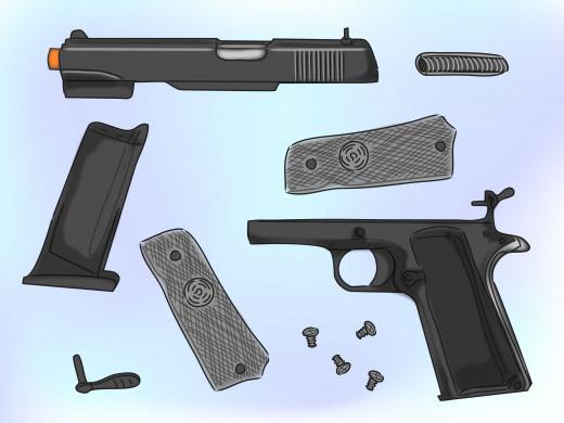 Air Soft Pistol Dismantled