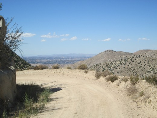 View of Hesperia while walking down the north side of the San Bernardino Mountains.