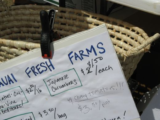 Be sure to visit a local farmers market on your next visit to Kauai.