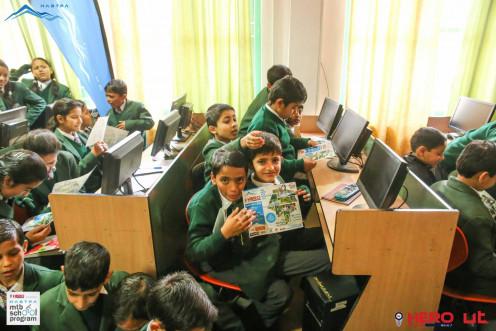 Hero HASTPA MTB School Program at DAV SunderNagar, Mandi