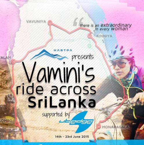 Vamini's 'Ride Across Sri lanka' was powered by HASTPA