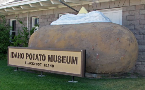 Front Of Idaho Potato Museum