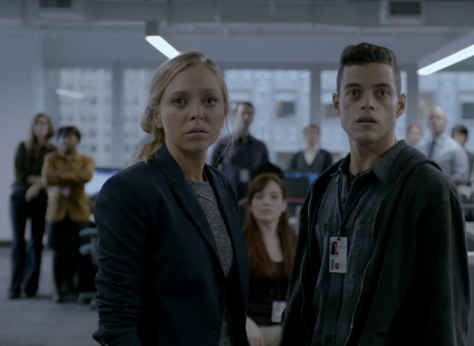 Angela (Portia Doubleday) and Eliot (he's everywhere)