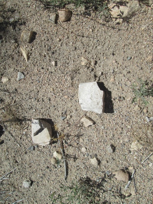 During a hike I like admiring the different shapes of rocks on the ground.