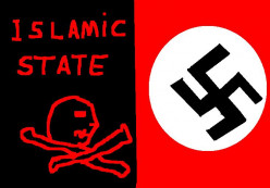 2015 the menace of Islamic State. 1945 the menace of the Nazis.