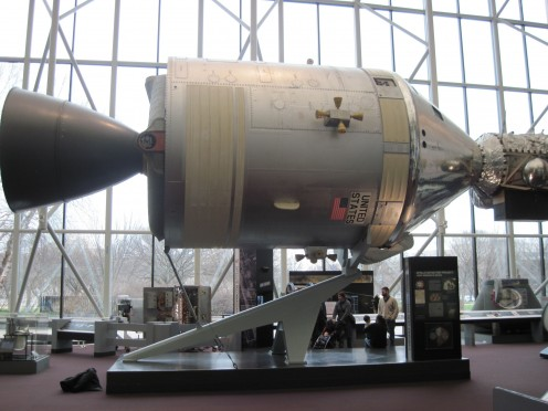 Space Ship Used During Apollo Mission At National Air And Space Museum