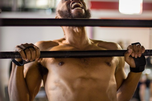 CrossFit combines traditional strengh building exercises with gymnastic components.