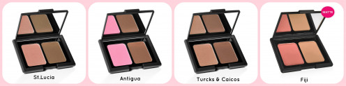 Can be purchased in 4 different shades Includes Blush and Bronzer