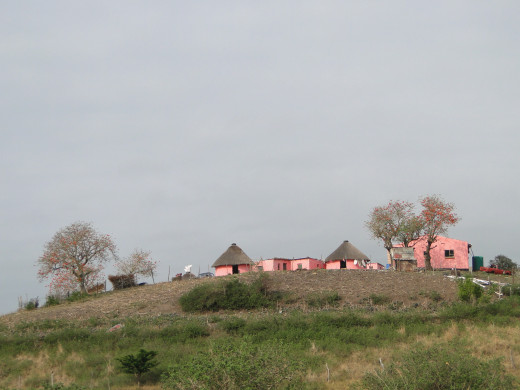 A small village on a hill near Coffee Bay, Wild Coast