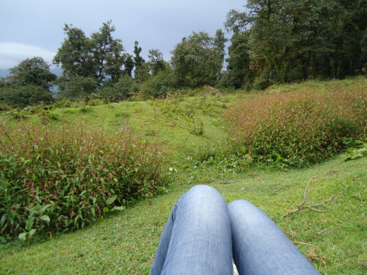 I celebrated the joy of reaching Upper Raithal by relaxing