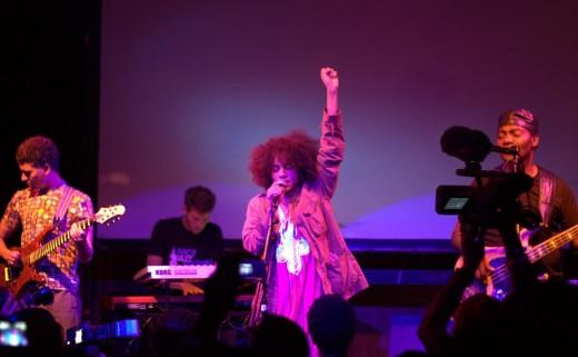 Nneka performing in London
