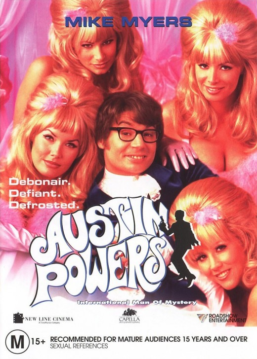 "Promotional poster for ""Austin Powers: International Man Of Mystery"""